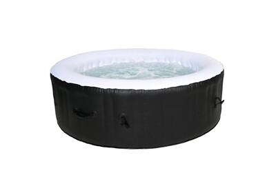 Spa gonflable Cocooning Water Spa gonflable rond ø208cm 5-6 places - 130 jets - filtrage et chauffage - 1000l - noir et blanc - palma