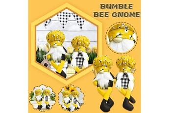 Poupées GENERIQUE Bumble bee striped gnome scandinave tomte nisse suédois honey bee elfs home@c51654