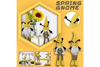 Poupées GENERIQUE Bumble bee striped gnome scandinave tomte nisse suédois honey bee elfs home@c50899