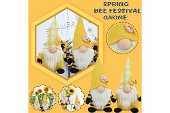 Poupées GENERIQUE 2 pcs bumble bee striped gnome scandinave tomte nisse suédois honey bee elfs@c51484