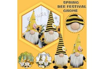 Poupées GENERIQUE 2 pcs bumble bee striped gnome scandinave tomte nisse suédois honey bee elfs@c51483