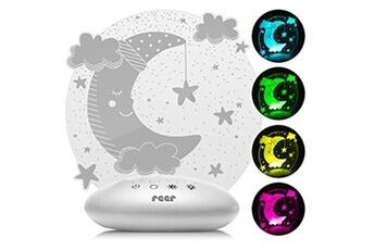 Veilleuse Reer Reer colourlumy 52121 veilleuse pour enfant avec vitre en verre acrylique, changement de couleur, trois niveaux de luminosité, fonction minuteur, gris