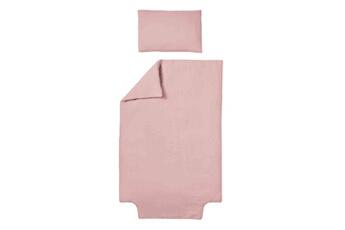 Linge de lit bébé Baby Fox Parure de lit b?b? double gaze de coton bio vieux rose 100x140cm