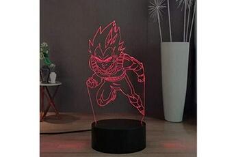 Veilleuse Lamchim Dragon ball z led night lamp decor, god goku vegeta 16 couleurs télécommande bureau lampe pour kid night light, cadeau de vacances d'anniversaire pour