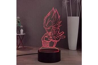 Veilleuse Lamchim Anime dragon ball z 3d led veilleuse, vegeta son goku 16 couleurs smart touch télécommande enfants veilleuse pour chambre, garçons/filles cadeau