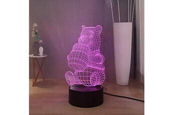 Veilleuse Lamchim Winnie the pooh piglet led night light, usb touch remote teens girls chambre night lamp lampe de table, 7 couleurs atmosphère décor lumière, cadeau de