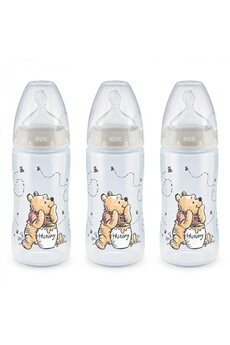 Biberon Nuk Lot 3 biberons first choice+ winnie 300 ml 0-6m perçage m