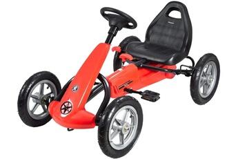 Véhicule à pédales Hyper Motion Hypermotion go kart ? p?dales voiture ? p?dales enfant 5 ? 12 ans frein ? main roues pomp?es rouge