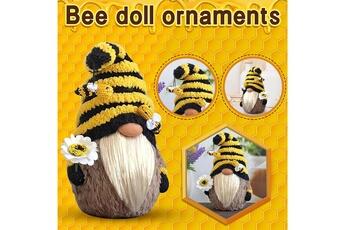 Poupées GENERIQUE Bumble bee striped gnome scandinave tomte nisse suédois honey bee elfs home@c63140