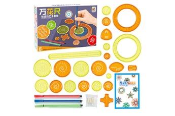 Jouets éducatifs GENERIQUE Règle de dessin de pratique multifonctionnelle puzzle de papeterie règle de wanhua 30ml - multicolore