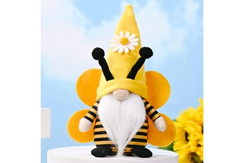 Poupées GENERIQUE Bumble bee striped gnome scandinave tomte nisse suédois honey bee elfs home@c51864