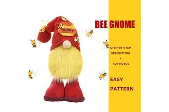Poupées GENERIQUE Bumble bee gnome scandinave tomte nisse suédois honey bee elfs home@c63939