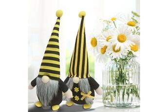 Poupées GENERIQUE Bumble bee striped gnome scandinave tomte nisse suédois honey bee elfs home@c63415