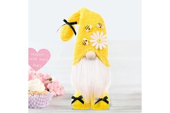 Poupées GENERIQUE Bumble bee gnome scandinave tomte nisse suédois honey bee elfs home@c63835