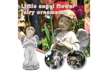 Poupées GENERIQUE Décoration de jardin créative little angel girl ornements créatifs pour animaux de compagnie@c64404