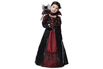 Déguisements Gift Tower Gift tower déguisement vampire fille - costume de déguisement comtesse gothique dame halloween cosplay costume théâtre fête enfant fille (4-6 ans)