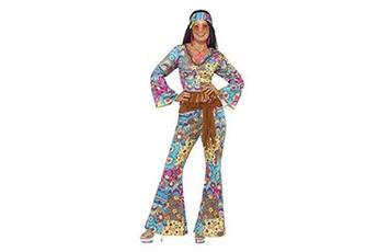 Déguisements Smiffy's Smiffys costume peace and love hippie, multi couleurs, avec haut, pantalon, bandeau, taille s