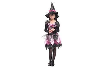 Déguisements Gift Tower Gift tower déguisement petite sorcière fée fille halloween costume cosplay robe tutu enfant baquette magique (10-12 ans)