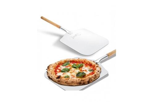 Spice Pelle à pizza spice alu spatule alimentaire manche en bois 30.5x30.5x66cm