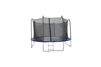Trampoline Trigano Trampoline 366 cm noir et bleu échelle et filet de protection inclus