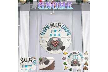 Poupées GENERIQUE Panneau de bienvenue saisonnier gnome door hanger avec pièces de vacances interchangeables@c54274
