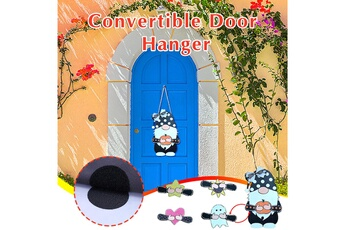 Poupées GENERIQUE Panneau de bienvenue saisonnier gnome door hanger avec pièces de vacances interchangeables@c54253