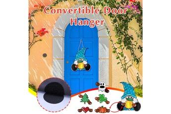 Poupées GENERIQUE Panneau de bienvenue saisonnier gnome door hanger avec pièces de vacances interchangeables@c54247