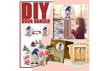 Poupées GENERIQUE Panneau de bienvenue saisonnier gnome door hanger avec pièces de vacances interchangeables@c54232