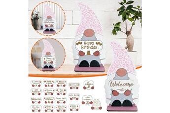 Poupées GENERIQUE Panneau de bienvenue saisonnier gnome door hanger avec pièces de vacances interchangeables@c54132