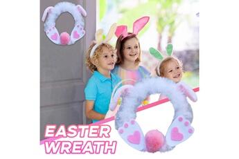 Poupées GENERIQUE Décoration de pâques bunny party wall door ddecoration wreath ornement pendant@c50950