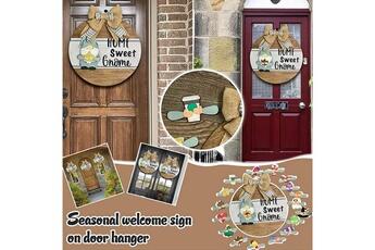 Poupées GENERIQUE Panneau de bienvenue saisonnier gnome door hanger avec pièces de vacances interchangeables@c54133