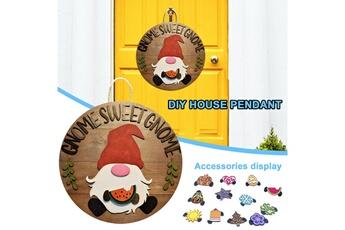 Poupées GENERIQUE Panneau de bienvenue saisonnier gnome door hanger avec pièces de vacances interchangeables@c54114