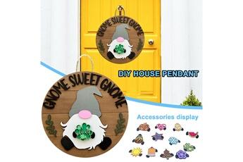 Poupées GENERIQUE Panneau de bienvenue saisonnier gnome door hanger avec pièces de vacances interchangeables@c54113