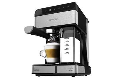 Expresso Cecotec Semi-automatique power instant-ccino 20 touch serie nera. 20 bars de pression, 1.4 l, 6 fonctions contrôle tactile, réservoir de lait, 1350 w