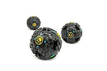 Jouets éducatifs Hsmy 1pc pet puppy dog squeaky fetch balle jouets (météorites bouncy série) bite non toxique en plastique souple résistant squeeze m1624