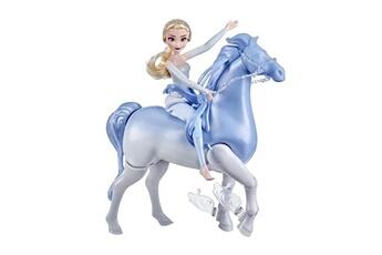 Poupées Hasbro Disney la reine des neiges 2 - poupee princesse disney elsa 30 cm et son cheval nokk interactif 23cm