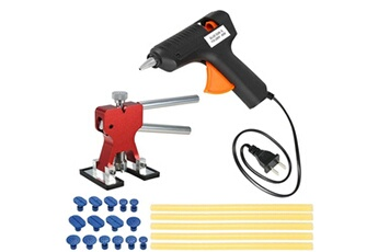 Accessoires pour la voiture Justgreenbox Extracteur d'outils de réparation de bosses sans peinture pour voiture + 15 onglets de colle + 110-240 v 40 w pistolet thermofusible avec 5 bâtons