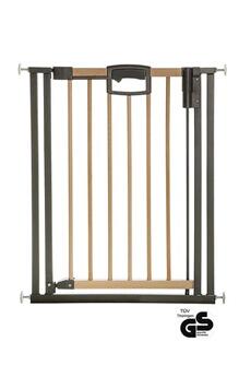 Barrière de sécurité bébé Geuther Geuther, easylock wood plus 2791+, barrière de sécurité pour portes 68 cm, argentée