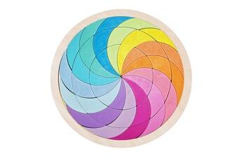 Puzzles GENERIQUE Puzzle de forme de variété de tangram de blocs de construction arc-en-ciel pour l'éducation de la petite enfance@41122