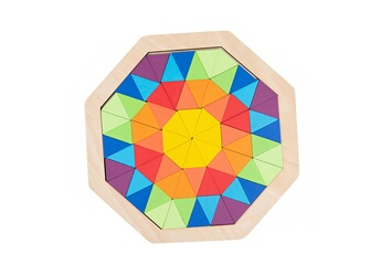 Jouets éducatifs GENERIQUE Arc-en-blocs de construction de la petite enfance éducation tangram varietyhape puzzle le48
