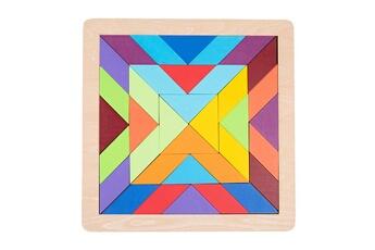 Puzzles GENERIQUE Puzzle de forme de variété de tangram de blocs de construction arc-en-ciel pour l'éducation de la petite enfance@41121