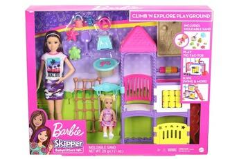 Poupées Barbie Coffret de jeu barbie skipper babysitter journée au parc