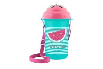 Vaisselle bébé Canpol Babies Cool gourde sport enfant 400 ml avec paille et sangle motif pastèque