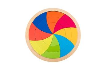 Puzzles GENERIQUE Puzzle de forme de variété de tangram de blocs de construction arc-en-ciel pour l'éducation de la petite enfance@41324