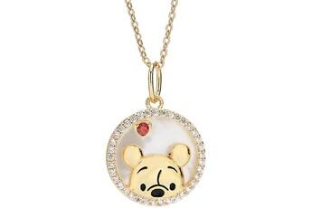 Mode et stylisme Oem 18k or plaqué 925 sterling silver pendentif collier 18 » bijoux à chaîne (winnie l'ourson)