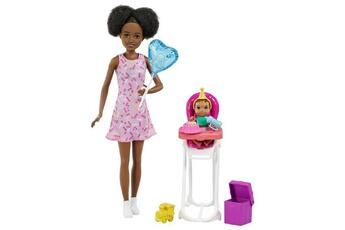 Poupées Barbie Barbie coffret amie de skipper babysitter anniversaire