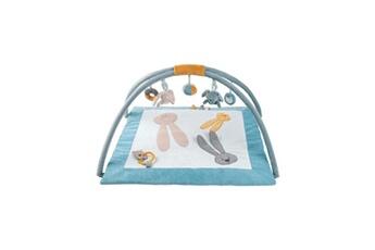 Tapis d'éveil NATTOU Tapis d'éveil avec arches lapidou - 80 x 80 cm - en polyester - gris et bleu