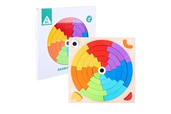 Puzzles GENERIQUE Puzzle de forme de variété de tangram de blocs de construction arc-en-ciel pour l'éducation de la petite enfance@41447