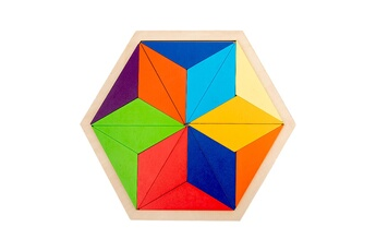 Puzzles GENERIQUE Puzzle de forme de variété de tangram de blocs de construction arc-en-ciel pour l'éducation de la petite enfance@41325