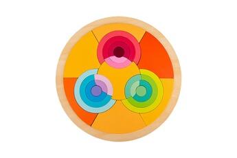 Puzzles GENERIQUE Puzzle de forme de variété de tangram de blocs de construction arc-en-ciel pour l'éducation de la petite enfance@41323